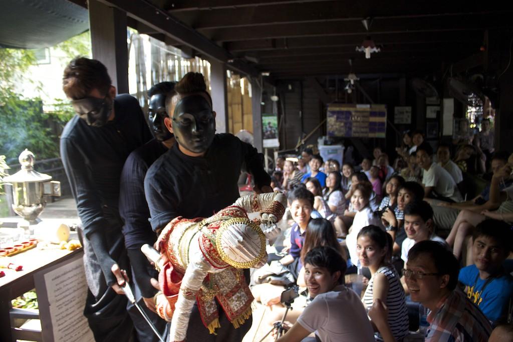 Thai Puppet Dance Klong Bang Luang Artist House Bangkok