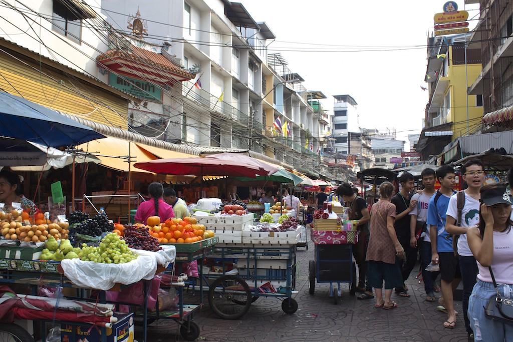 Bangkok Chinatown - Busy Street Vendors
