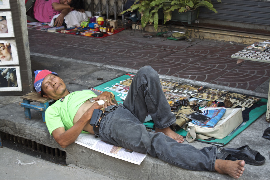 Bangkok Chinatown - Nap Time Street Side