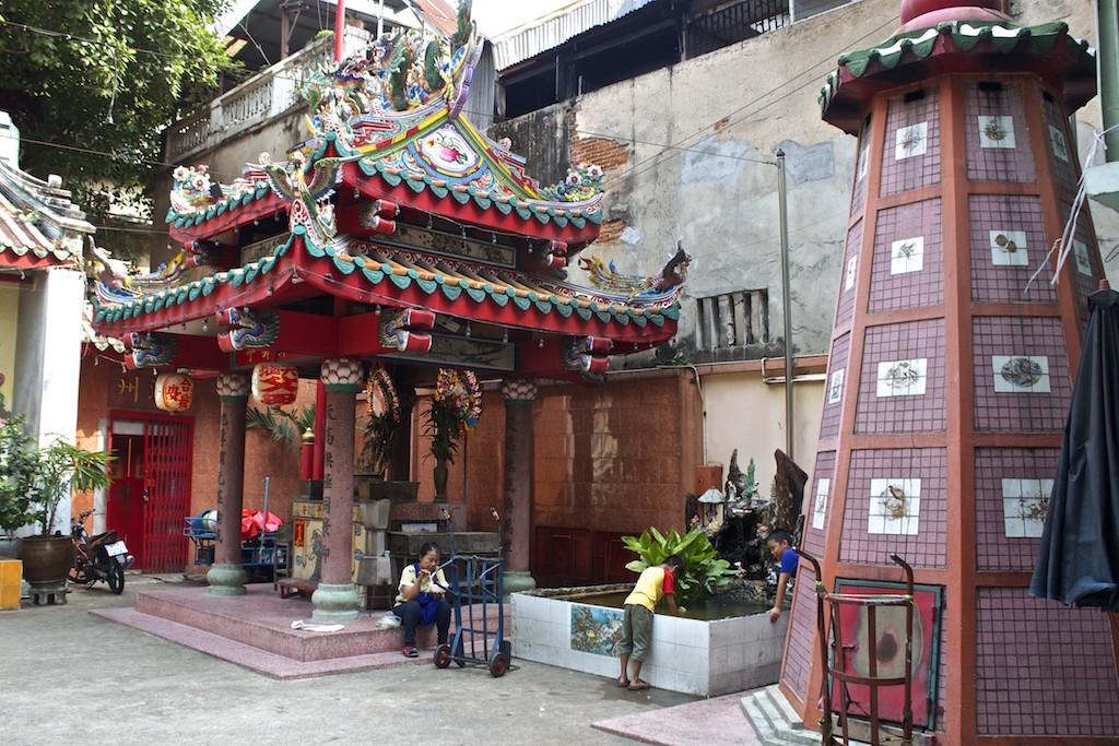 Bangkok Chinatown - Peace Outside a Temple