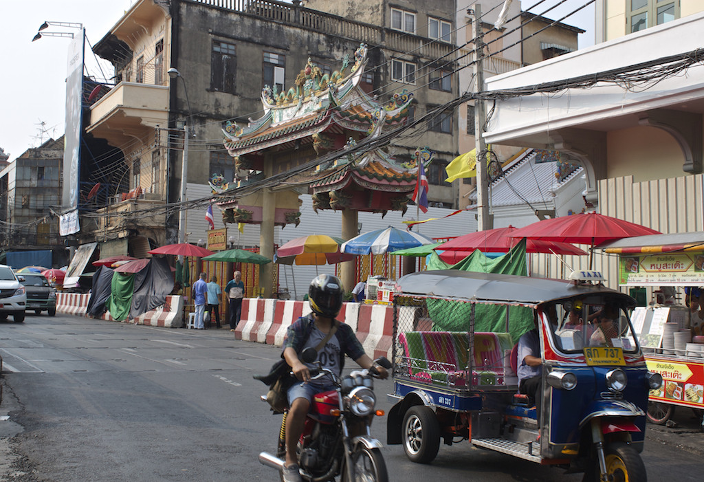 Bangkok Chinatown - Tuk Tuk and Motorcycle