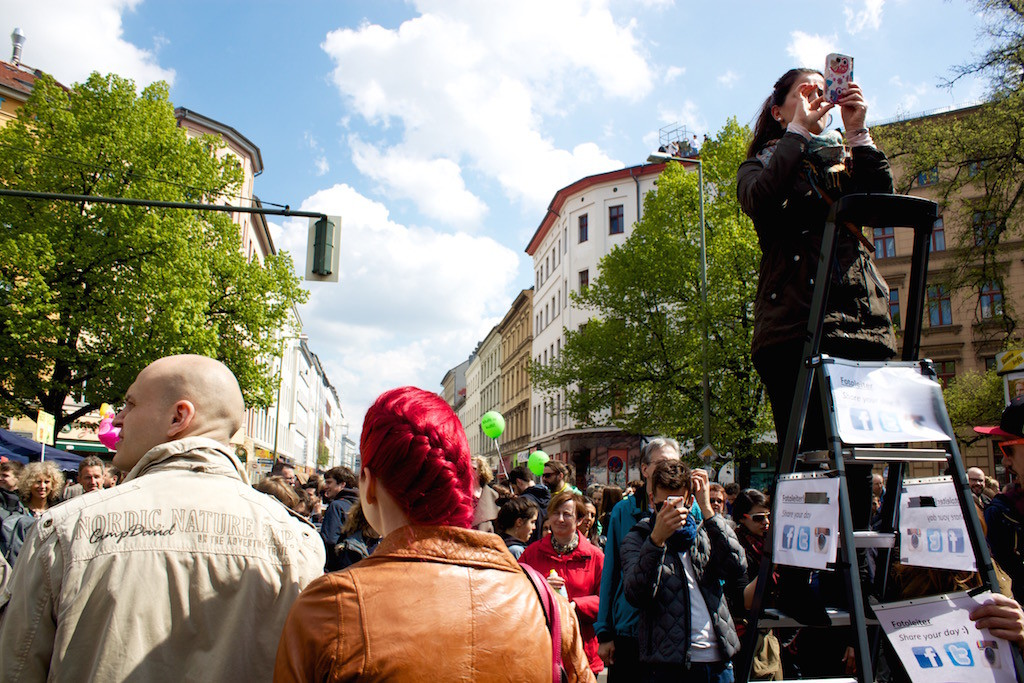 Myfest Berlin 2015 Taking Photos from a Ladder