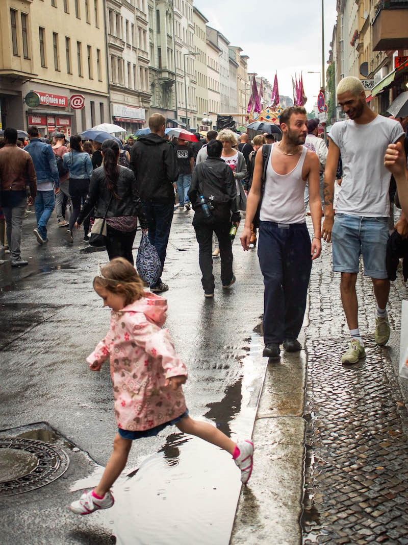 Berlin CSD - Jumping in Puddles