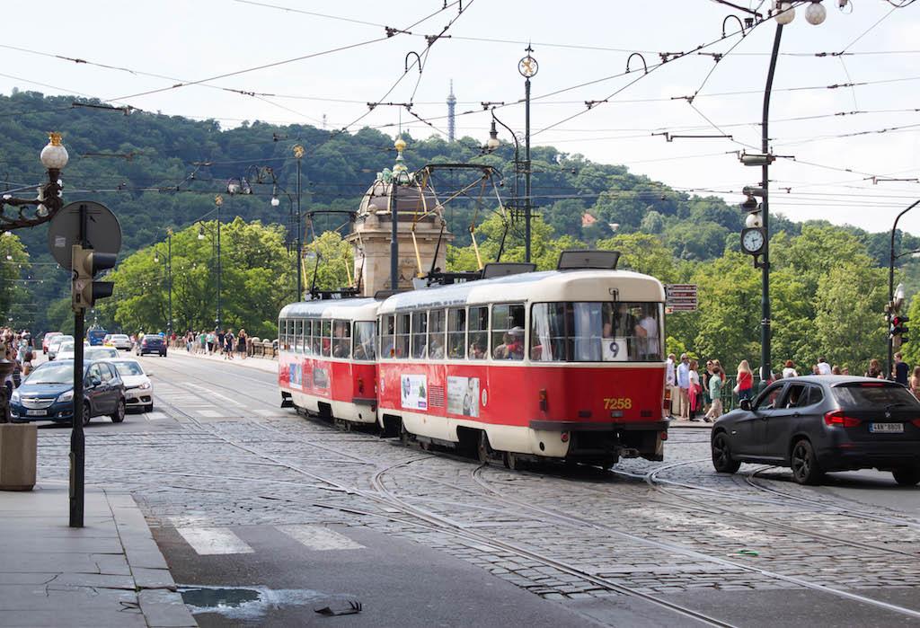 Prague Photos - Red Tram
