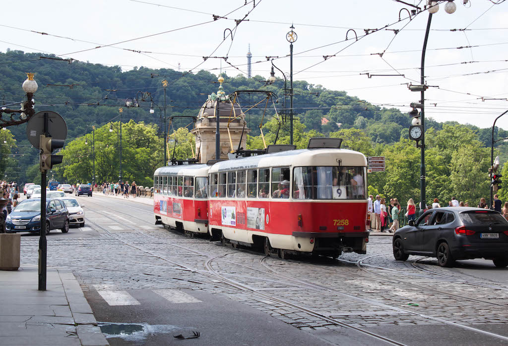 Prague Photos - Red Tram