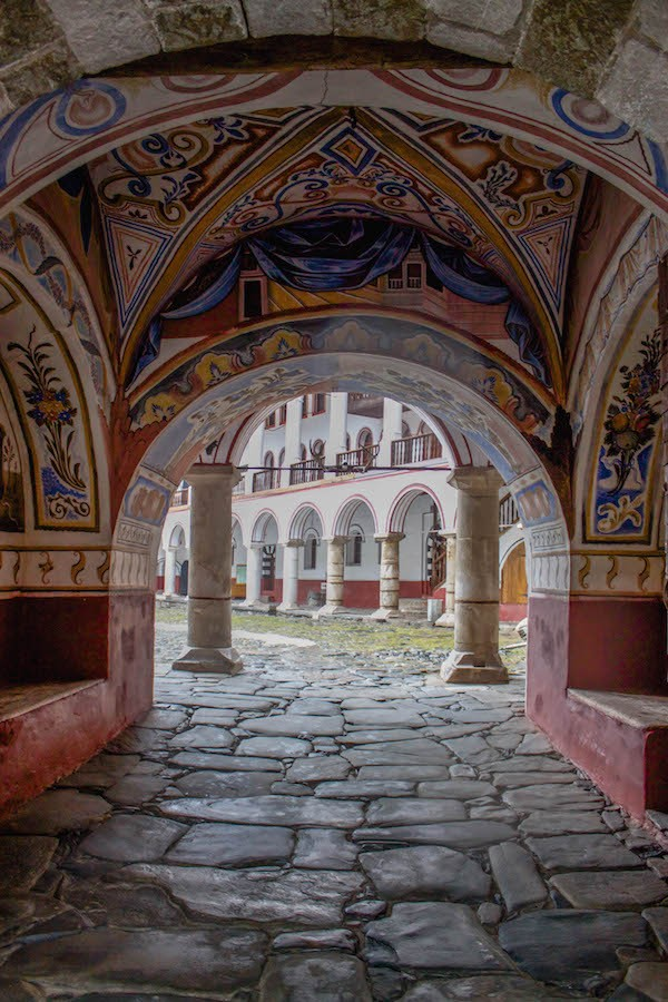Rila Monastery Entrance Frescoes