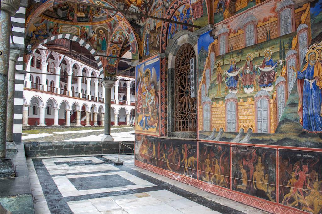 Rila Monastery Fresco Details