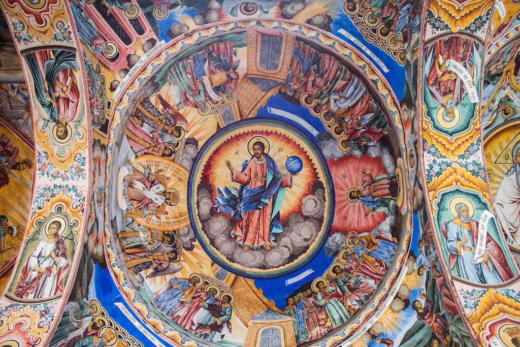 Rila Monastery Fresco Up Close