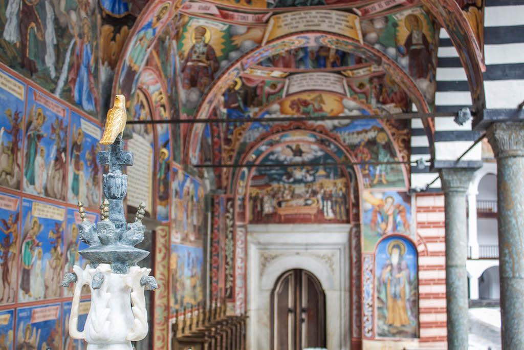Rila Monastery Frescoes Birds