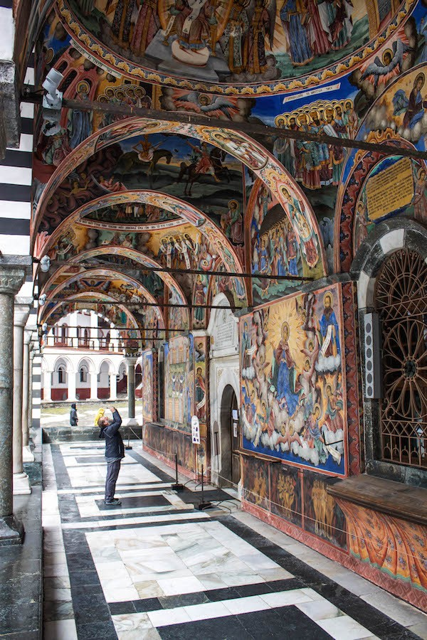 Rila Monastery Gazing at Frescoes