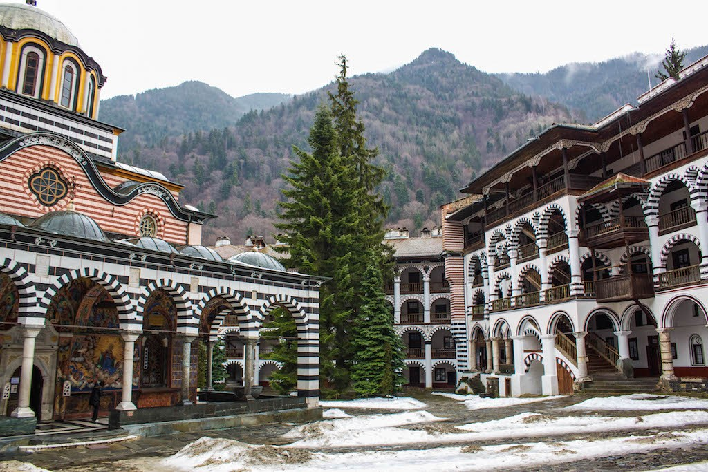 Rila Monastery Winter Mountains