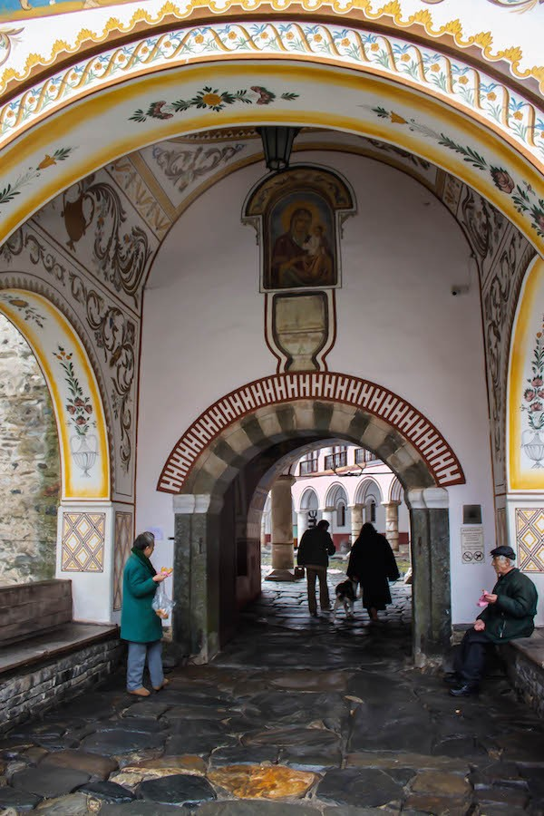 Walking Into Rila Monastery