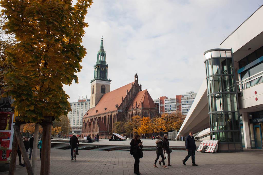 Berlin Sunday Alexanderplatz Church