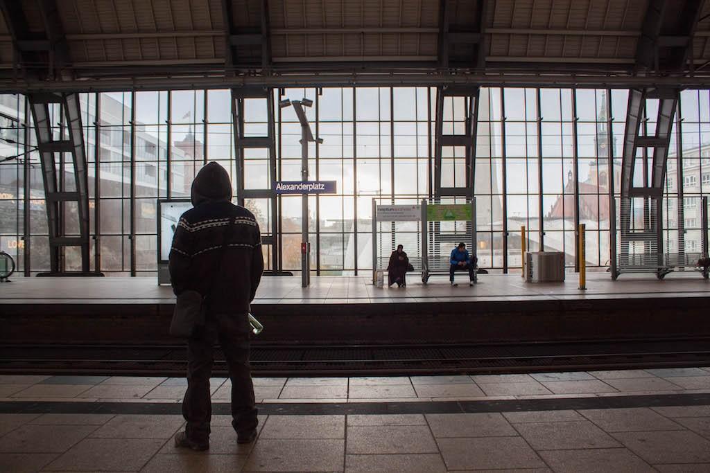 Berlin Sunday Alexanderplatz S-Bahn