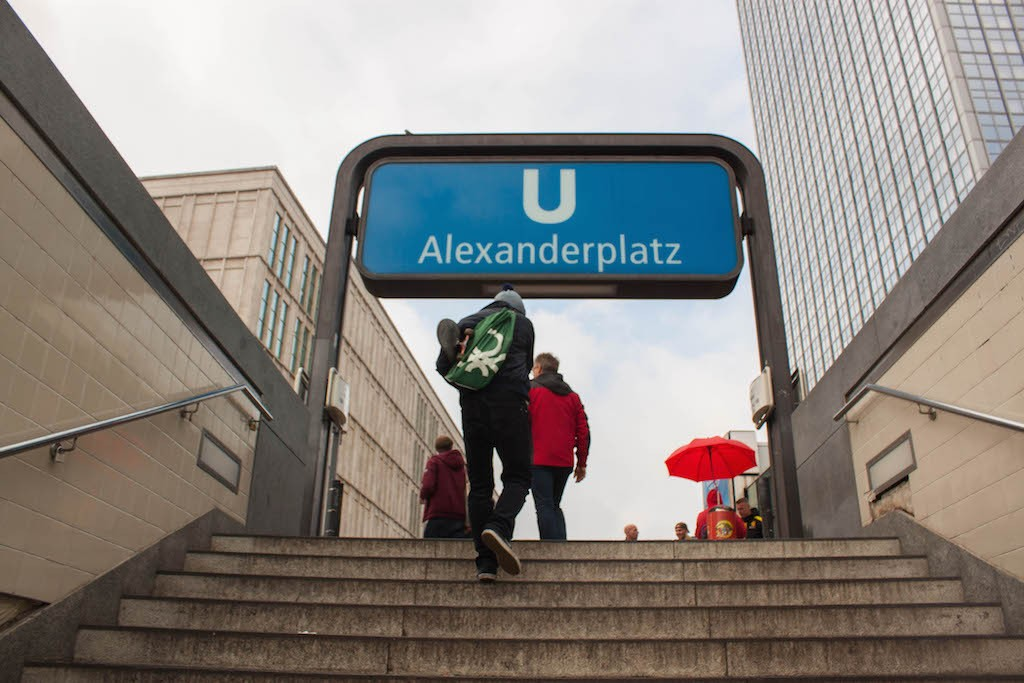 Berlin Sunday Alexanderplatz U-Bahn