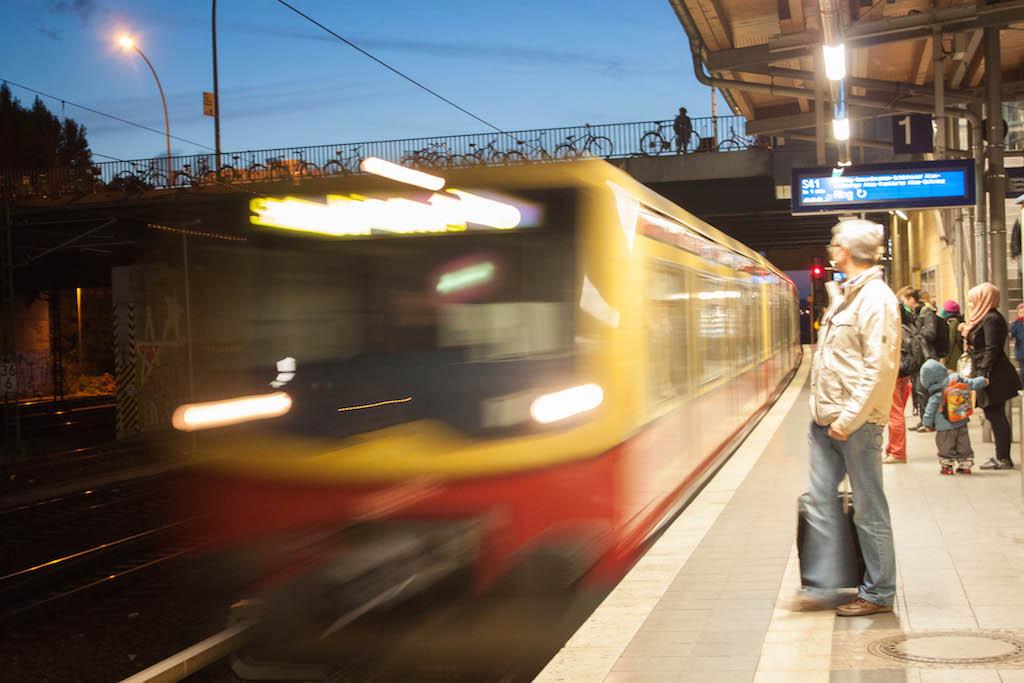 Berlin Sunday S-Bahn at Night