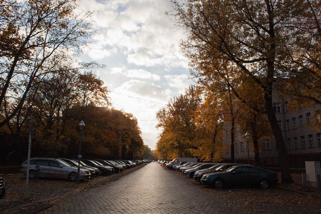 Berlin Sunday Streets of Moabit in Fall