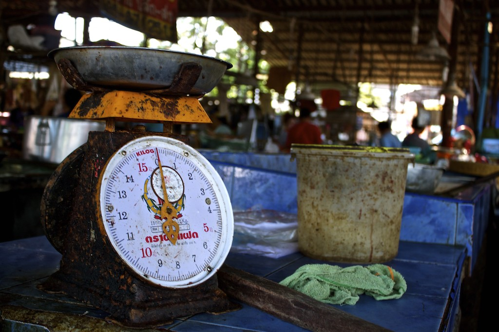 Markets in Trang Food Scale