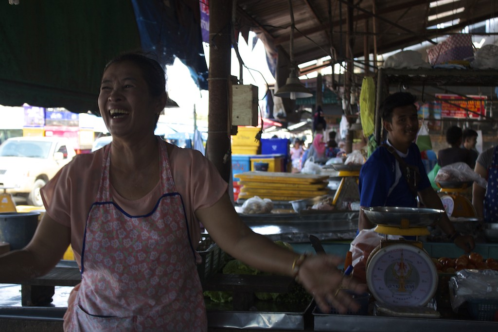 Markets in Trang Laughing Lady