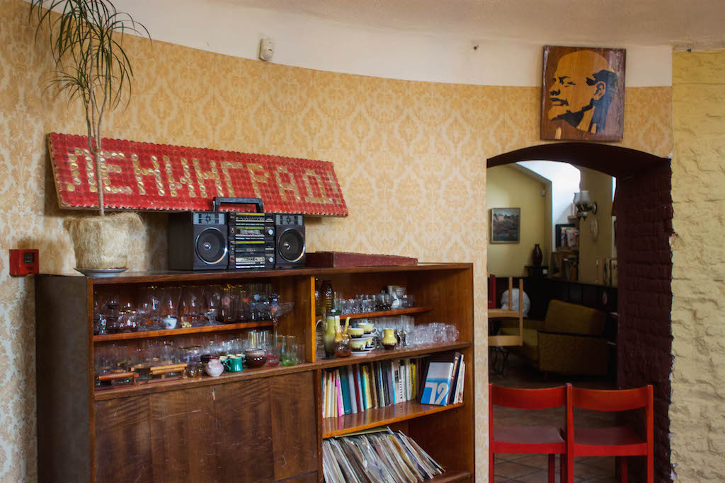 Cool Places in Riga - Cafe Leningrad Decor