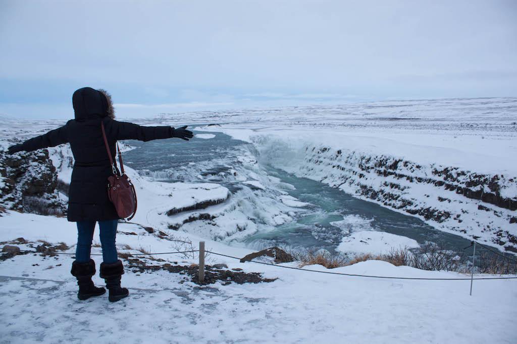 Gullfoss Waterfall in Winter - Cheryl Howard