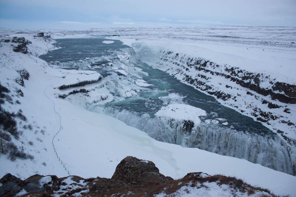 Gullfoss Waterfall in Winter - Horizon