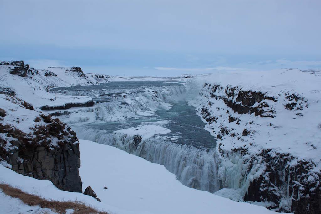 Gullfoss Waterfall in Winter - Rocky