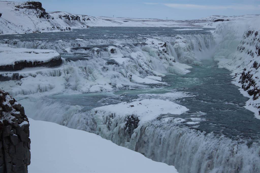 Gullfoss Waterfall in Winter - View Up Close