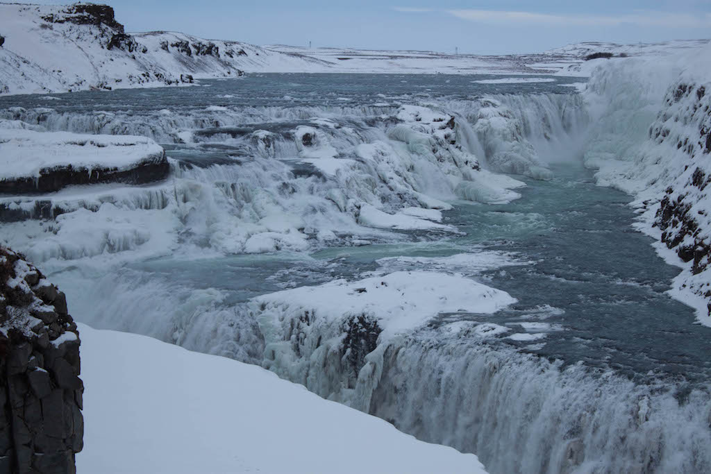 Gullfoss Waterfall in Winter - View Up Close