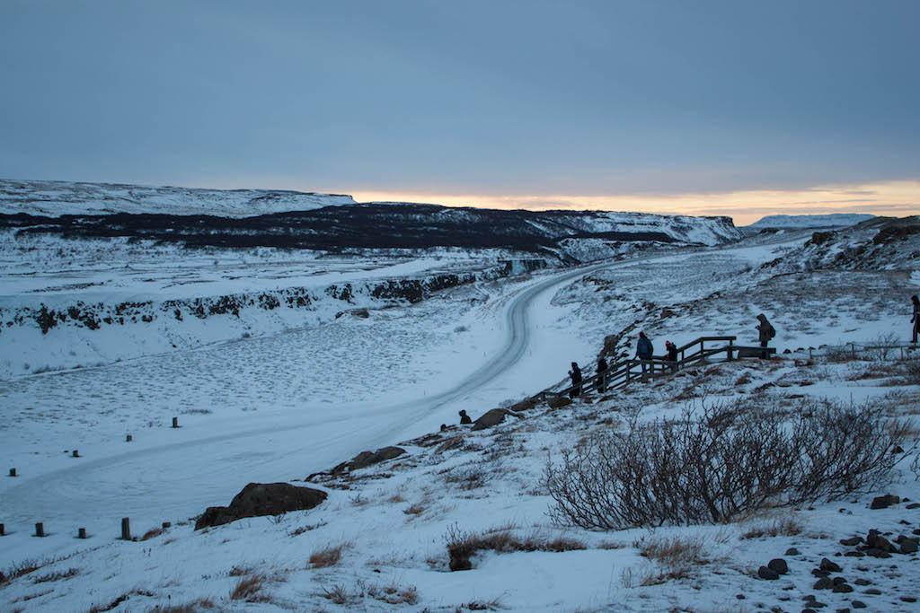 Gullfoss Waterfall in Winter - Walking Path