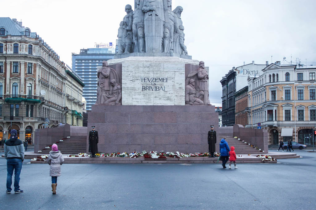Riga Photos - Bottom of Freedom Monument