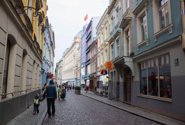 Riga Photos - Boy and Father on Street