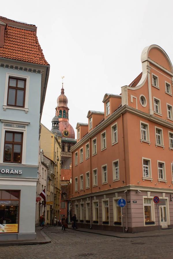 Riga Photos - Church Steeple in Old Town