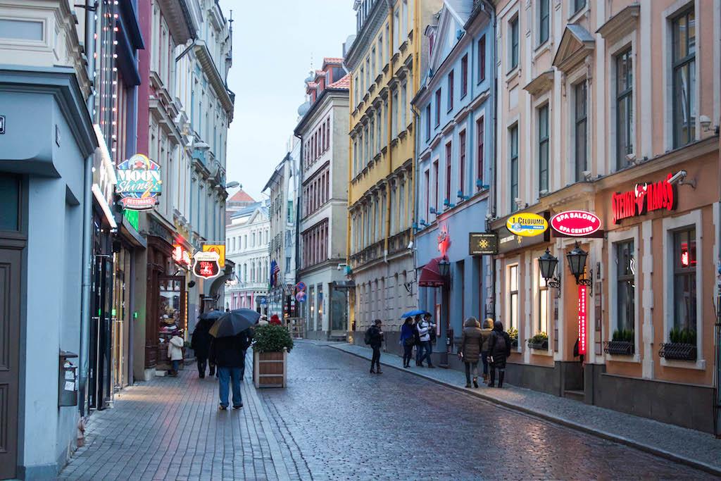 Riga Photos - Old Town in the Rain