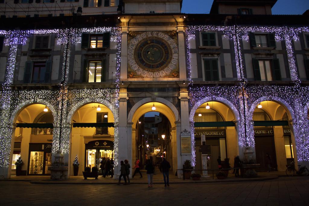 Visit Brescia - Piazza della Loggia at Night Clock