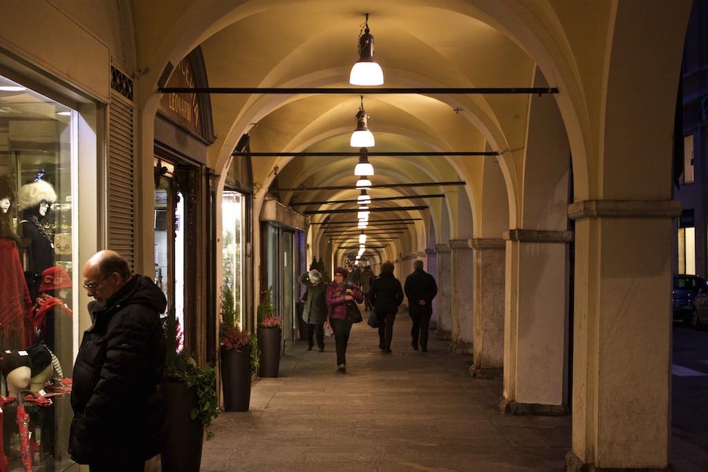 Visit Brescia - Piazza della Loggia at Night Shopping