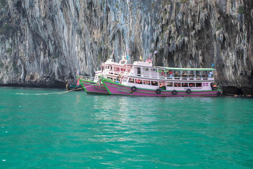 Trang Islands - Ko Muk Tham Morakot Emerald Cave Boats