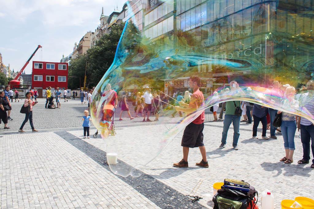 Prague Photos - Blowing Bubbles