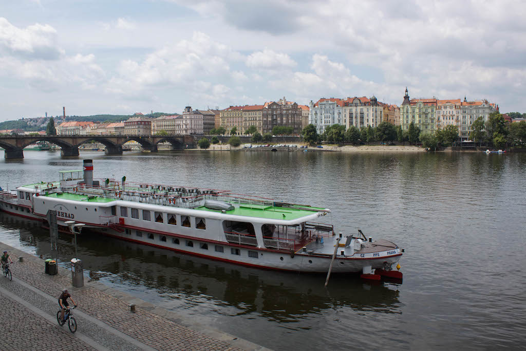 Prague Photos - Boat and River