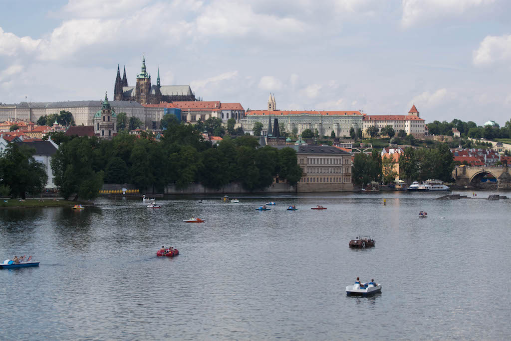 Prague Photos - Castle and Boats
