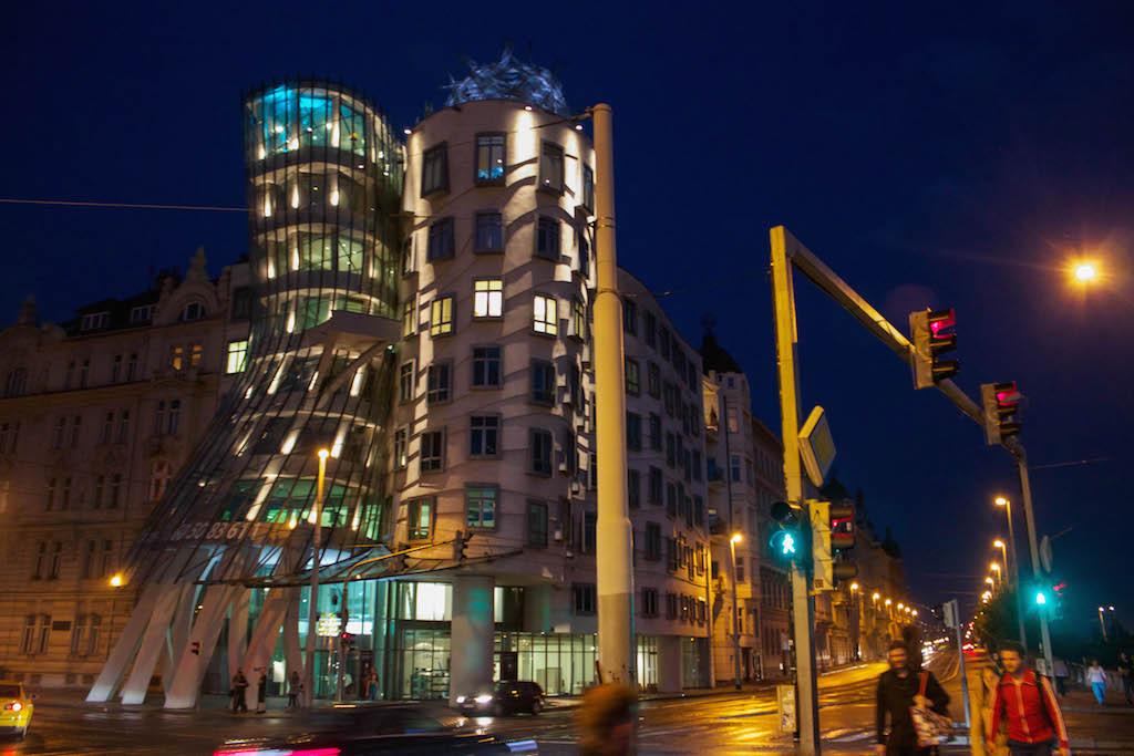 Prague Photos - Dancing House at Night