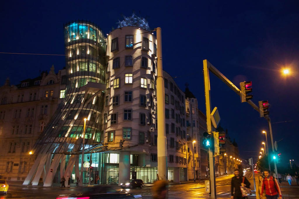 Prague Photos - Dancing House at Night