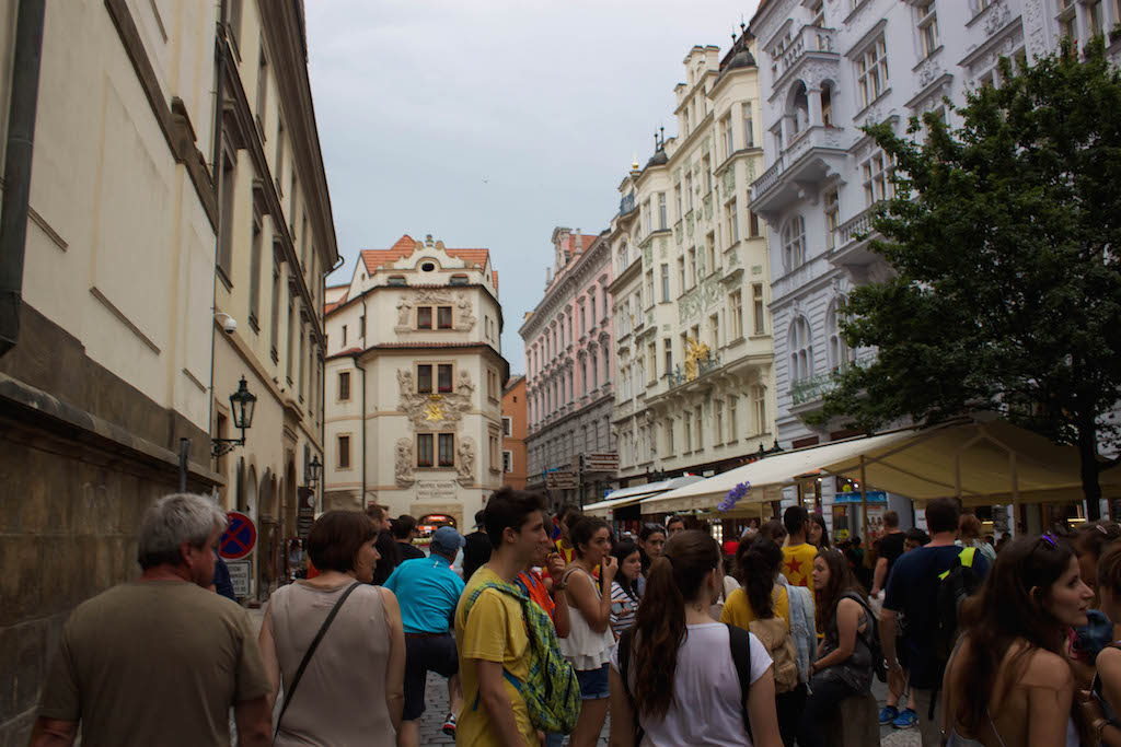 Prague Photos - Old Town and Tourists