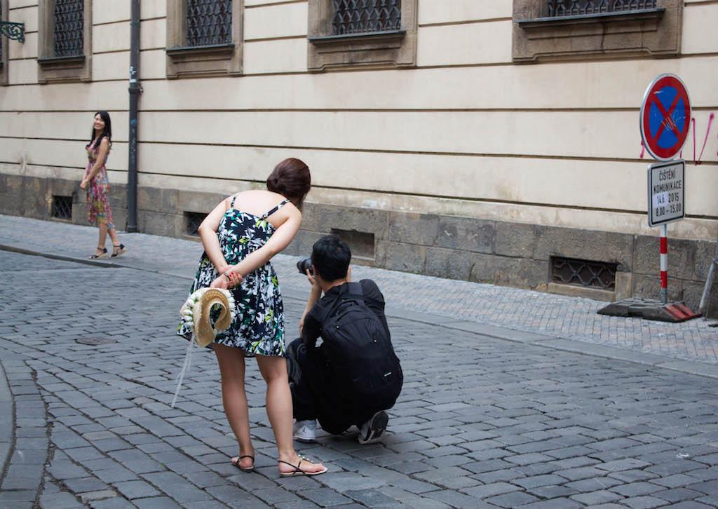 Prague Photos - Posing on the Streets