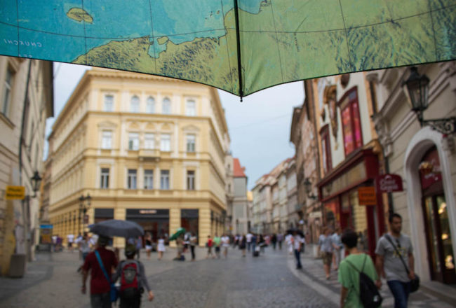 Prague Photos - Raining Umbrella