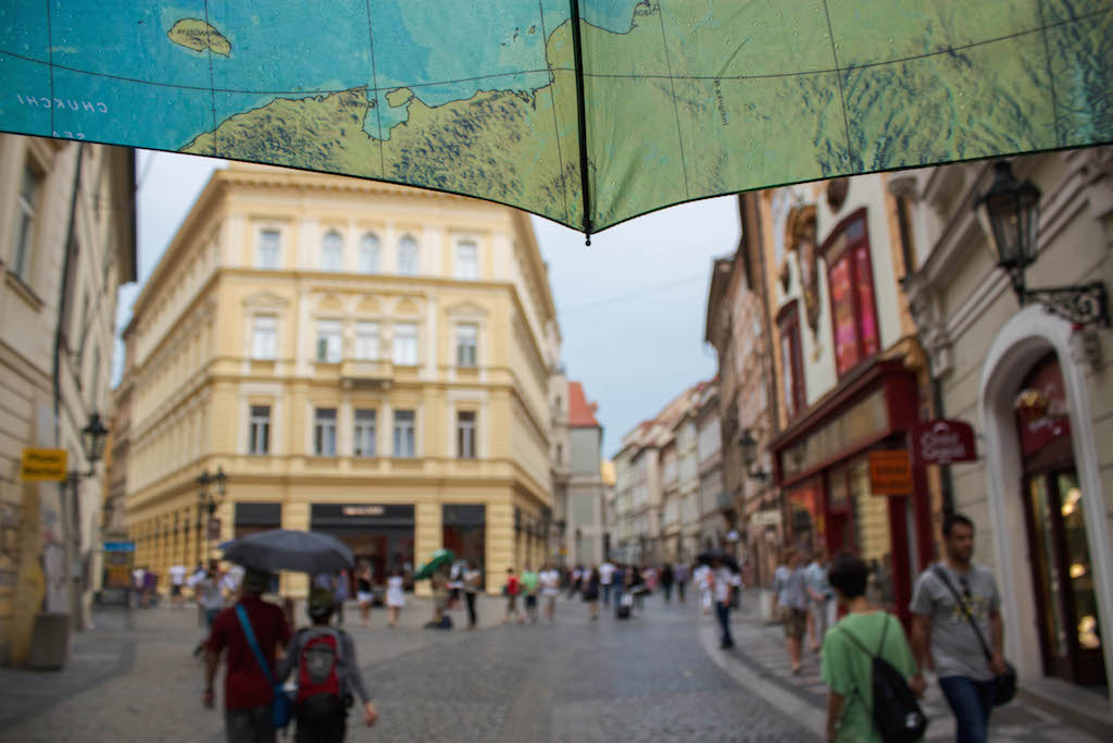 Prague Photos - Raining Umbrella