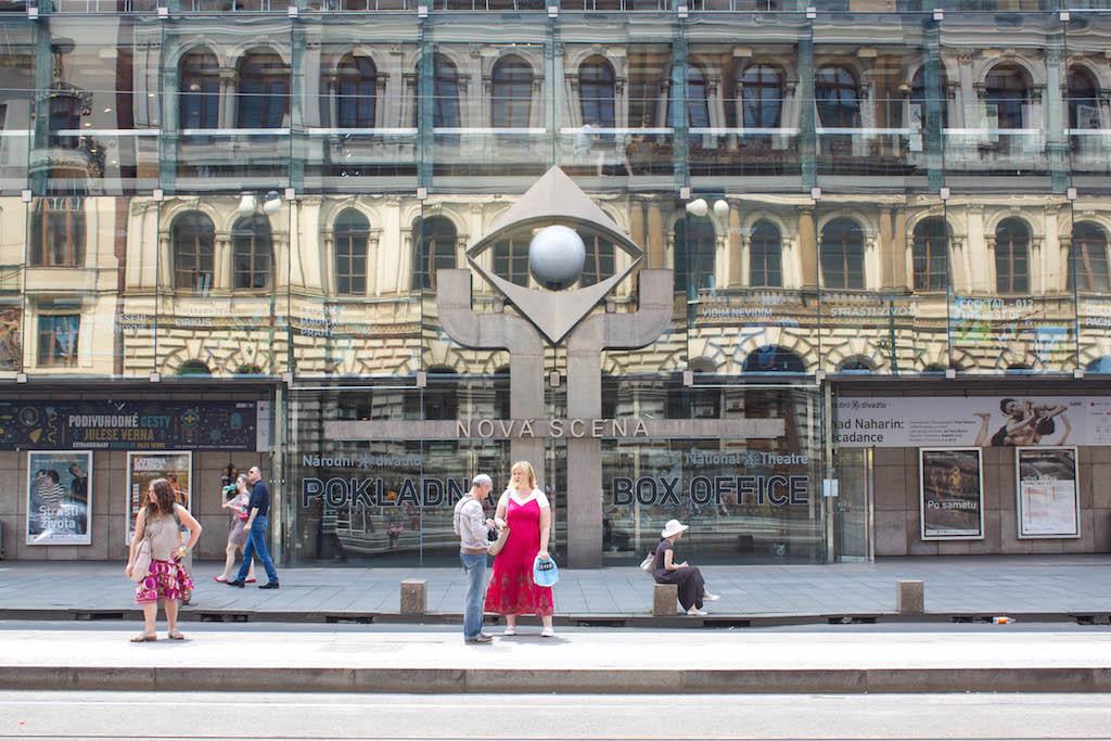 Prague Photos - Reflections on Glass Facade