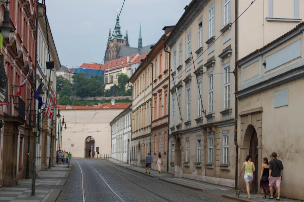 Prague Photos - Streets Leading to Castle