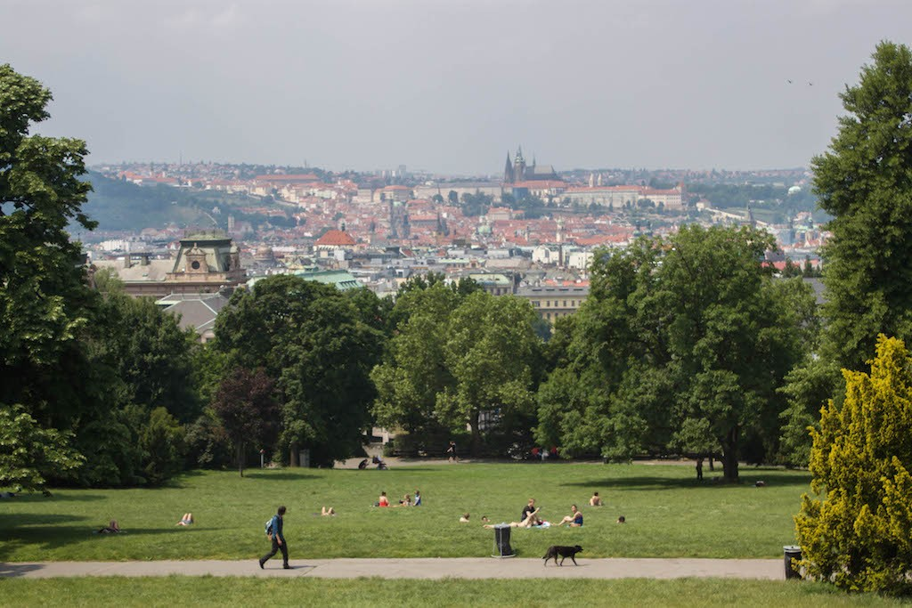 Prague Photos - View over Prague City from Park