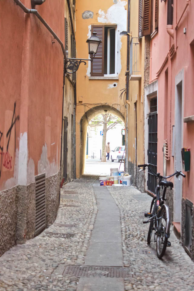Streets of Brescia - Bike on Pastel Street
